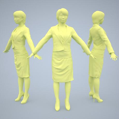 3D人モデルAポーズ 028_Haru
