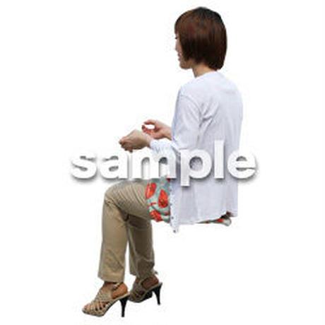 人物切抜き素材 座る人Ⅱ編 Q_319