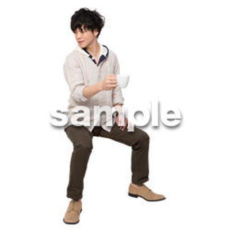 Cutout People 座る 男性 LL_362
