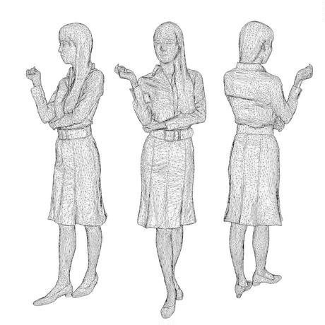3D人物素材  [Posed]  007_Rika