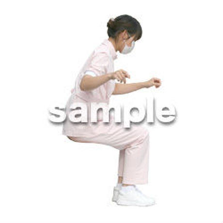 人物切抜き素材 医療・シニア車椅子編 D_111