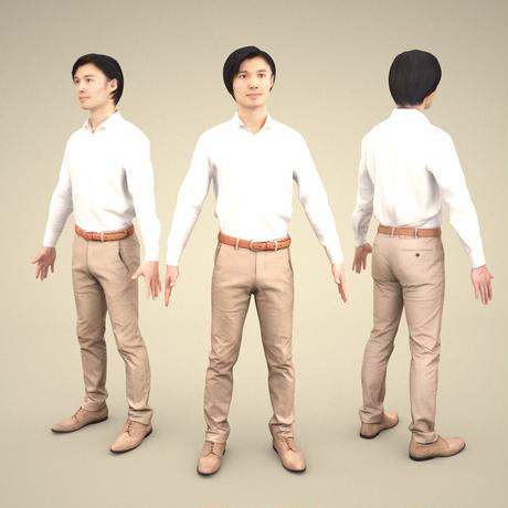 3D人モデルAポーズ 068_Syun