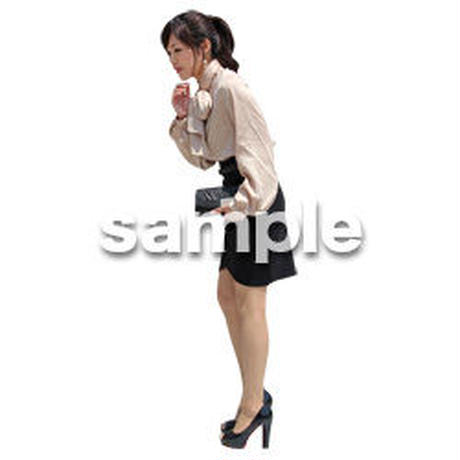 人物切抜き素材 ベーシックファッション編 P_163
