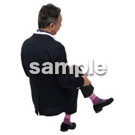 Cutout People 座る 男性 LL_500