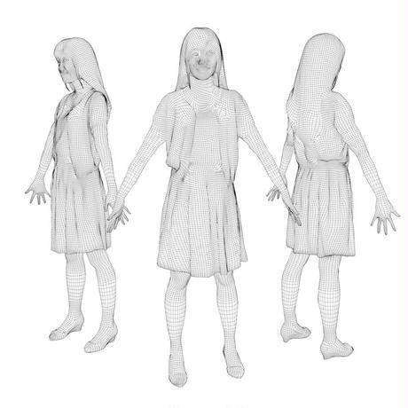 3D人モデルAポーズ 080_Yui