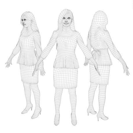 3D人モデルAポーズ 060_Mao