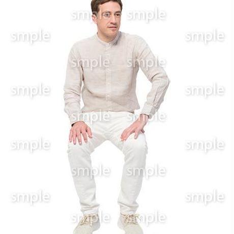 Cutout People 座る 外国人男性 LL_591