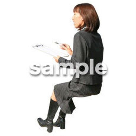 人物切抜き素材 座る人編 H_412