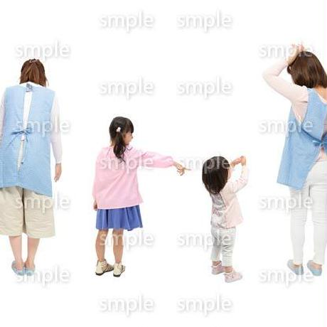 Cutout People 保育士と子供 GG_495