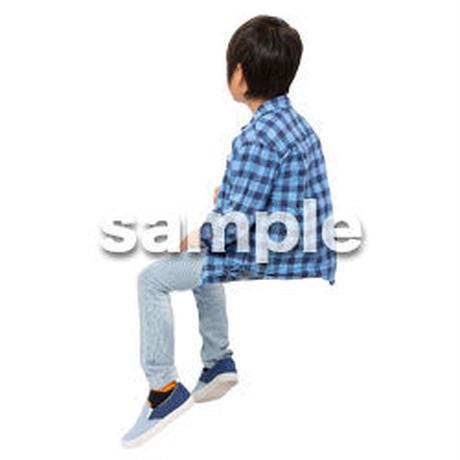 Cutout People 座る 男の子 LL_534