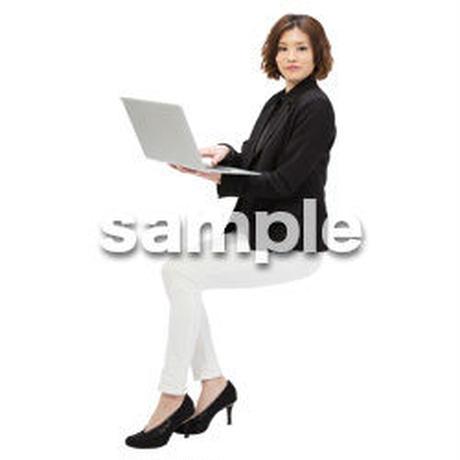 Cutout People 座る女性 KK_127