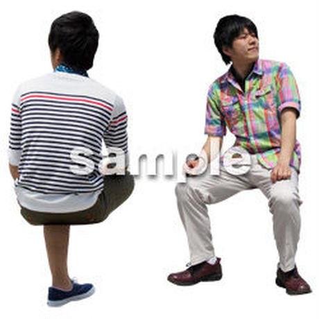 人物切抜き素材 座る人Ⅱ編 Q_076