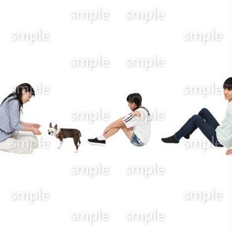 Cutout People 犬の散歩 II_498