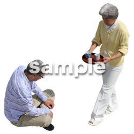 人物切抜き素材 シニア介護編 鳥瞰 S_498