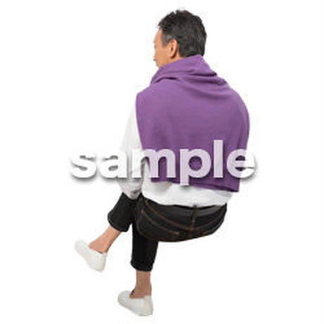 Cutout People 座る 男性 LL_510