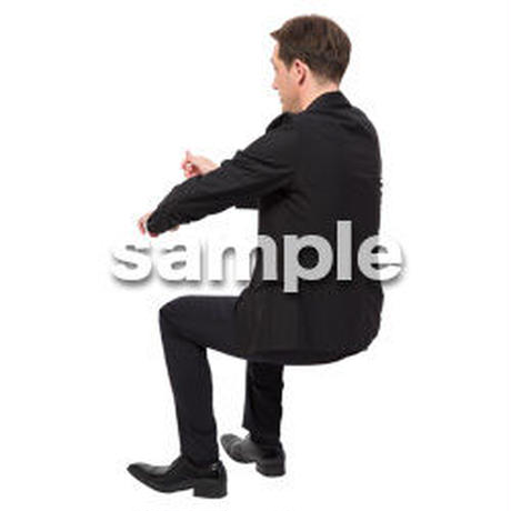 Cutout People 座る 外国人男性 LL_575