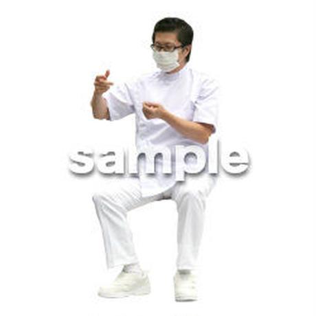 人物切抜き素材 医療・シニア車椅子編 D_018