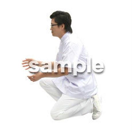 人物切抜き素材 医療・シニア車椅子編 D_028