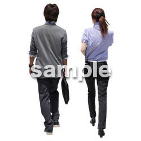 Cutout People ビジネス-日本人 EE_195