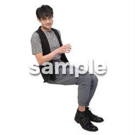 Cutout People 座る 男性 LL_473