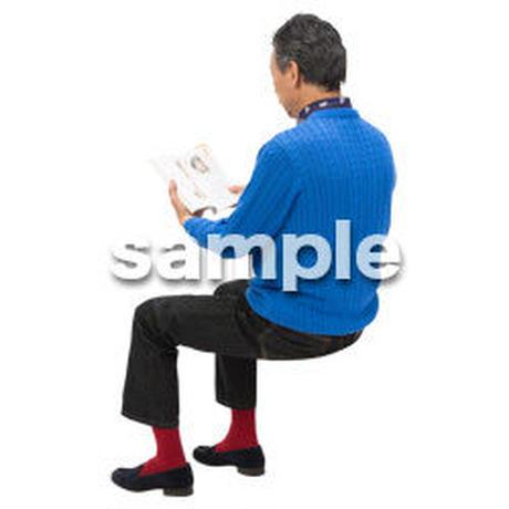 Cutout People 座る 男性 LL_520