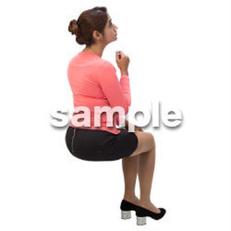 Cutout People 外国人-女性-座る BB_474