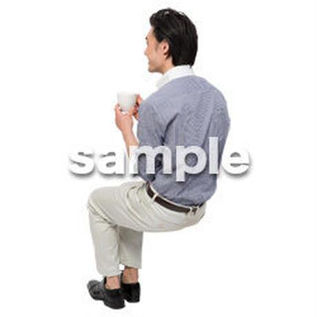 Cutout People 座る 男性 LL_265