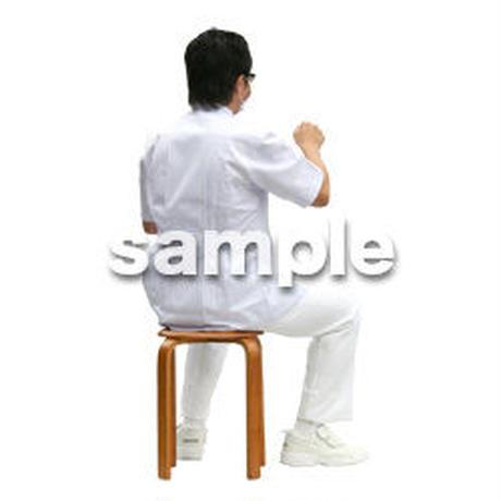 人物切抜き素材 医療・シニア車椅子編 D_023