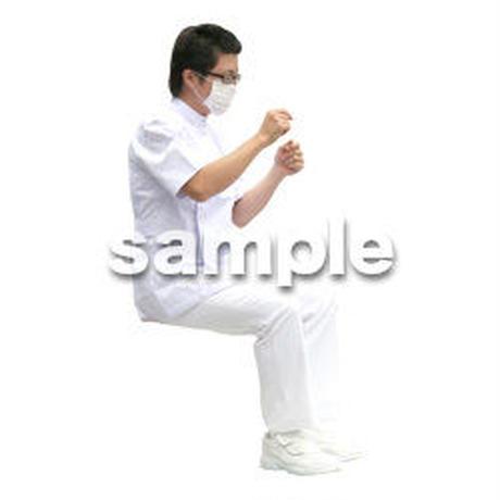 人物切抜き素材 医療・シニア車椅子編 D_019