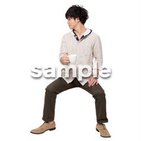 Cutout People 座る 男性 LL_361