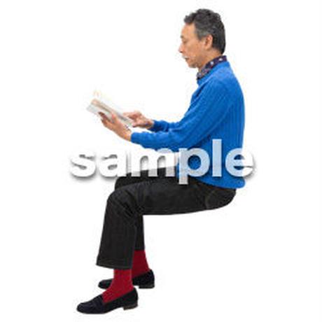 Cutout People 座る 男性 LL_519