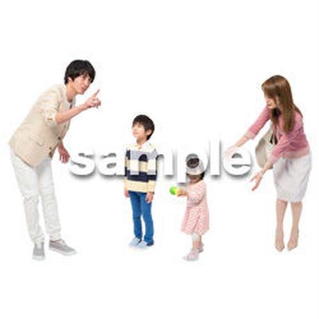Cutout People 4人ファミリー GG_467