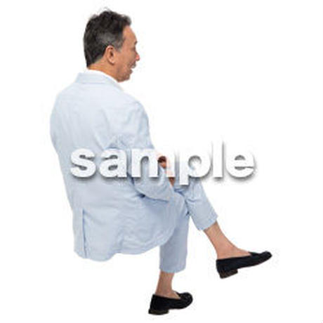 Cutout People 座る 男性 LL_514