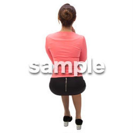 Cutout People 外国人-女性-座る BB_475