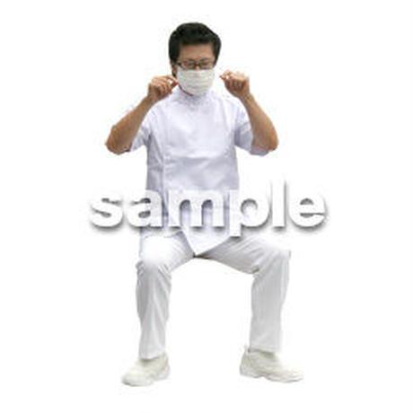 人物切抜き素材 医療・シニア車椅子編 D_016