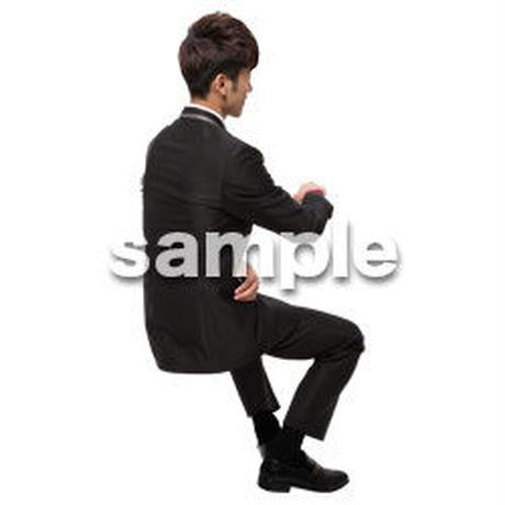 Cutout People 座る 男性 LL_024