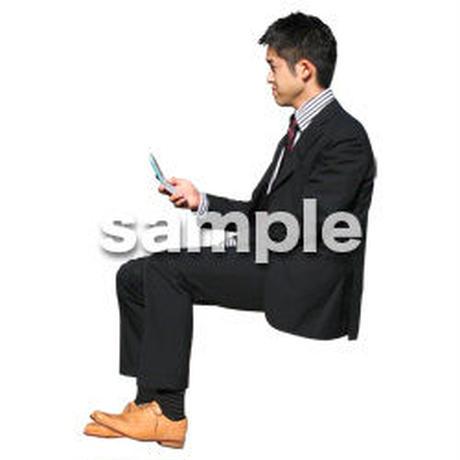 人物切抜き素材 座る人編 H_132