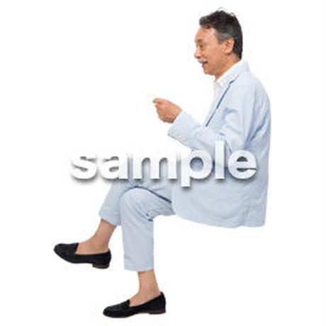Cutout People 座る 男性 LL_513