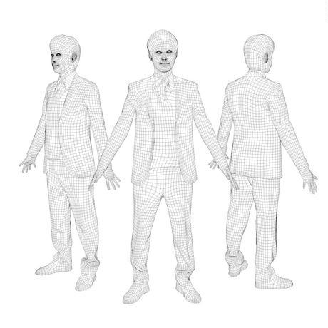 3D人モデルAポーズ 104_Sota