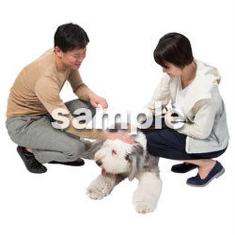 Cutout People 犬の散歩 II_487