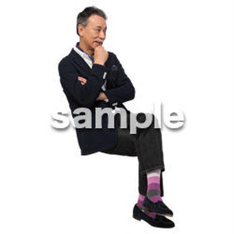 Cutout People 座る 男性 LL_498