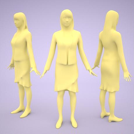 3D人モデルAポーズ 002_Rika