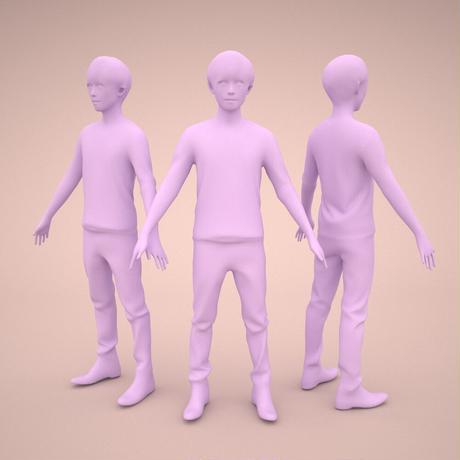 3D人モデルAポーズ 038_Toru