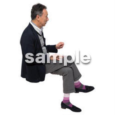 Cutout People 座る 男性 LL_503