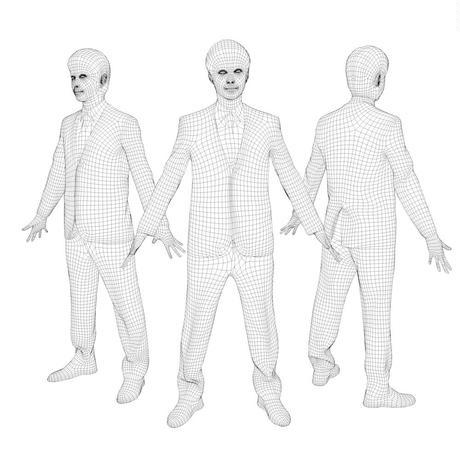 3D人モデルAポーズ 102_Sota