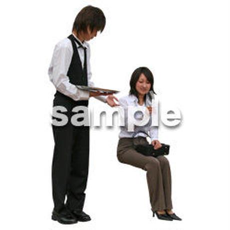 人物切抜き素材 座る人編 H_102