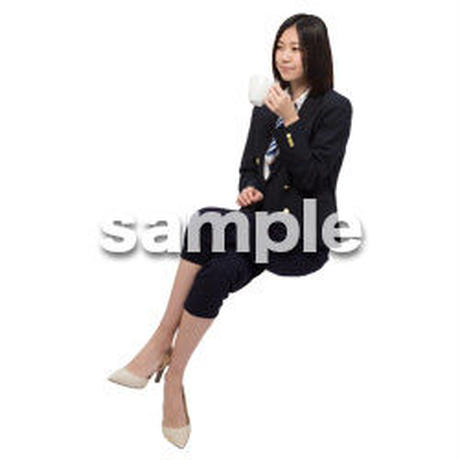 Cutout People 座る女性 KK_007