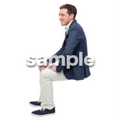 Cutout People 座る 外国人男性 LL_578