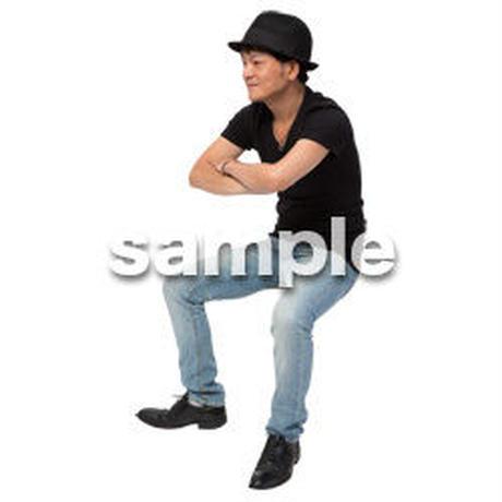 Cutout People 座る 男性 LL_482