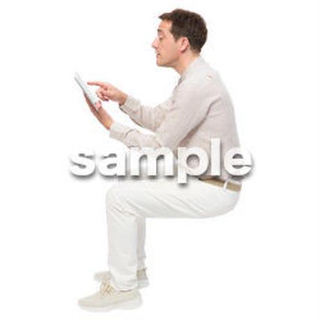 Cutout People 座る 外国人男性 LL_598